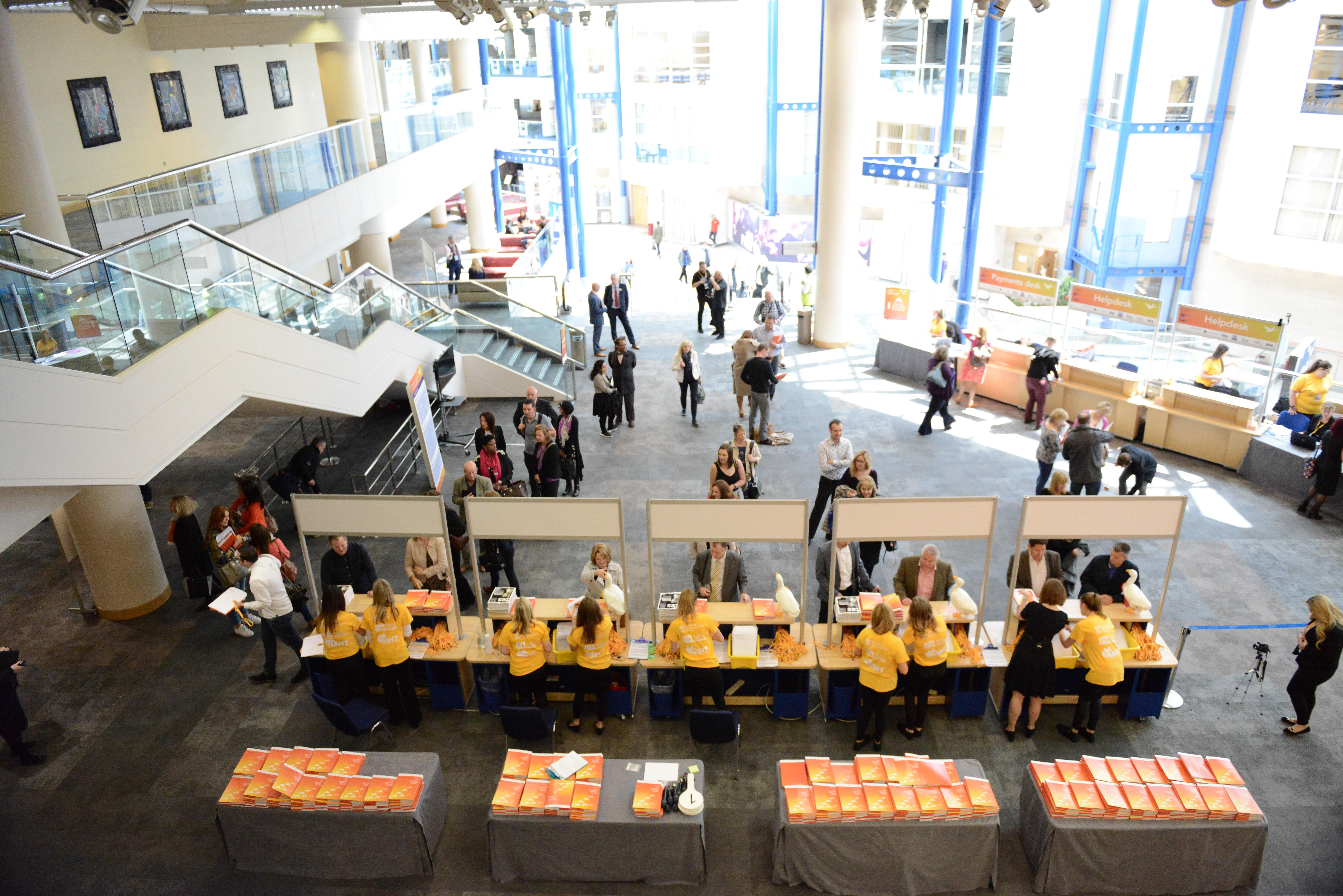 Reception desk full view